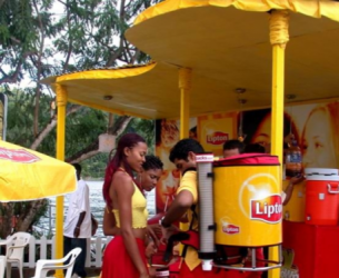 Lipton Tea backpack drink dispenser