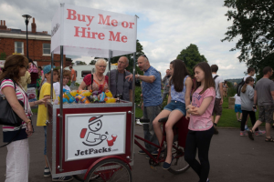 Trike For Hire to dispense Drinks